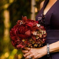 Flowers & Decor, Real Weddings, Wedding Style, red, Bridesmaid Bouquets, Fall Weddings, Northeast Real Weddings, City Real Weddings, Fall Real Weddings, City Weddings, Fall Wedding Flowers & Decor, Rustic Wedding Flowers & Decor
