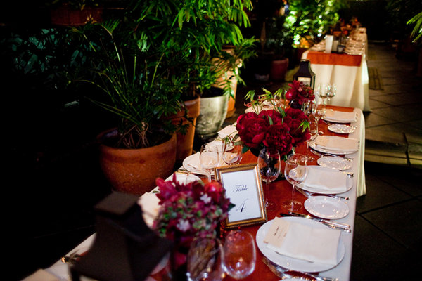 Real Weddings, red, Tables & Seating, Fall Weddings, Northeast Real Weddings, City Real Weddings, Fall Real Weddings, City Weddings, Fall Wedding Flowers & Decor