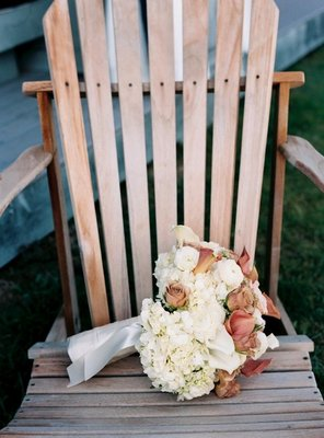 Flowers & Decor, Real Weddings, Wedding Style, white, brown, Bride Bouquets, Northeast Real Weddings, Spring Weddings, Spring Real Weddings, Beach Wedding Flowers & Decor, Spring Wedding Flowers & Decor