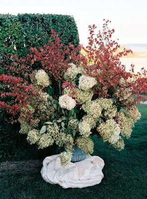 Flowers & Decor, Real Weddings, Wedding Style, red, green, Ceremony Flowers, Northeast Real Weddings, Spring Weddings, Spring Real Weddings, Fall Wedding Flowers & Decor