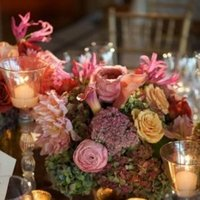 Flowers & Decor, Real Weddings, Wedding Style, pink, Centerpieces, Candles, Northeast Real Weddings, Spring Weddings, Spring Real Weddings, Fall Wedding Flowers & Decor
