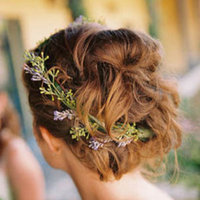 Beauty, Real Weddings, purple, Updo, Wavy Hair, Rustic Real Weddings, West Coast Real Weddings, Eco-Friendly Real Weddings, Summer Real Weddings, Vineyard Real Weddings, Eco-Friendly Weddings, Rustic Weddings, Vineyard Weddings