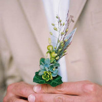 Real Weddings, green, Boutonnieres, Rustic Real Weddings, West Coast Real Weddings, Eco-Friendly Real Weddings, Summer Real Weddings, Vineyard Real Weddings, Eco-Friendly Weddings, Rustic Weddings, Vineyard Weddings, Eco-Friendly Wedding Flowers & Decor