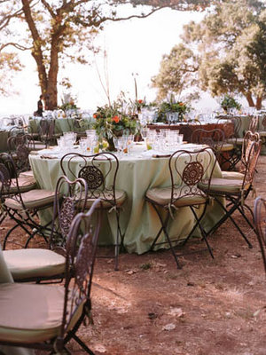 Real Weddings, green, brown, Tables & Seating, Rustic Real Weddings, West Coast Real Weddings, Eco-Friendly Real Weddings, Summer Real Weddings, Vineyard Real Weddings, Eco-Friendly Weddings, Rustic Weddings, Vineyard Weddings, Eco-Friendly Wedding Flowers & Decor, Rustic Wedding Flowers & Decor