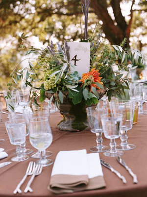 Real Weddings, green, brown, Table Numbers, Rustic Real Weddings, West Coast Real Weddings, Eco-Friendly Real Weddings, Summer Real Weddings, Vineyard Real Weddings, Eco-Friendly Weddings, Rustic Weddings, Vineyard Weddings, Eco-Friendly Wedding Flowers & Decor, Rustic Wedding Flowers & Decor