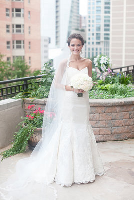 Wedding Dresses, Veils, Fashion, Real Weddings, Wedding Style, white, Spring Weddings, City Real Weddings, Classic Real Weddings, Midwest Real Weddings, Spring Real Weddings, City Weddings, Classic Weddings