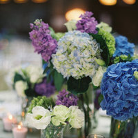 Flowers & Decor, Real Weddings, Wedding Style, white, blue, Centerpieces, Candles, Spring Weddings, City Real Weddings, Classic Real Weddings, Midwest Real Weddings, Spring Real Weddings, City Weddings, Classic Weddings, Classic Wedding Flowers & Decor, Spring Wedding Flowers & Decor