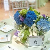 Flowers & Decor, Stationery, Real Weddings, Wedding Style, white, blue, Centerpieces, Table Numbers, Spring Weddings, City Real Weddings, Classic Real Weddings, Midwest Real Weddings, Spring Real Weddings, City Weddings, Classic Weddings, Classic Wedding Flowers & Decor, Spring Wedding Flowers & Decor, Table settings