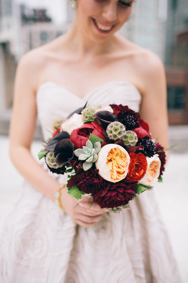 Flowers & Decor, Real Weddings, Wedding Style, red, Fall Weddings, Modern Real Weddings, Fall Real Weddings, Midwest Real Weddings, Modern Weddings, Fall Wedding Flowers & Decor, Modern Wedding Flowers & Decor, bride boquets
