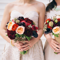 Flowers & Decor, Real Weddings, Wedding Style, red, Bridesmaid Bouquets, Fall Weddings, Modern Real Weddings, Fall Real Weddings, Midwest Real Weddings, Modern Weddings, Fall Wedding Flowers & Decor, Modern Wedding Flowers & Decor
