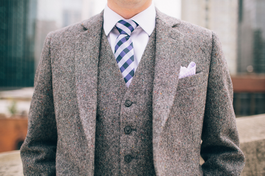 Fashion, Real Weddings, Wedding Style, gray, Fall Weddings, Modern Real Weddings, Fall Real Weddings, Midwest Real Weddings, Modern Weddings, Grey, Tweed, men's formal attire