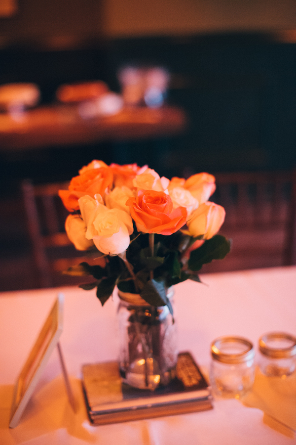 Flowers & Decor, Real Weddings, Wedding Style, yellow, orange, Centerpieces, Fall Weddings, Modern Real Weddings, Fall Real Weddings, Midwest Real Weddings, Modern Weddings, Fall Wedding Flowers & Decor