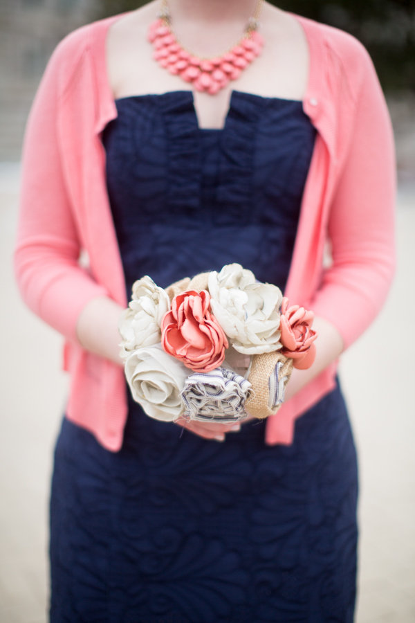 Real Weddings, Wedding Style, pink, blue, Bridesmaid Bouquets, Winter Weddings, Winter Real Weddings, preppy weddings, mid-atlantic real weddings, preppy real weddings