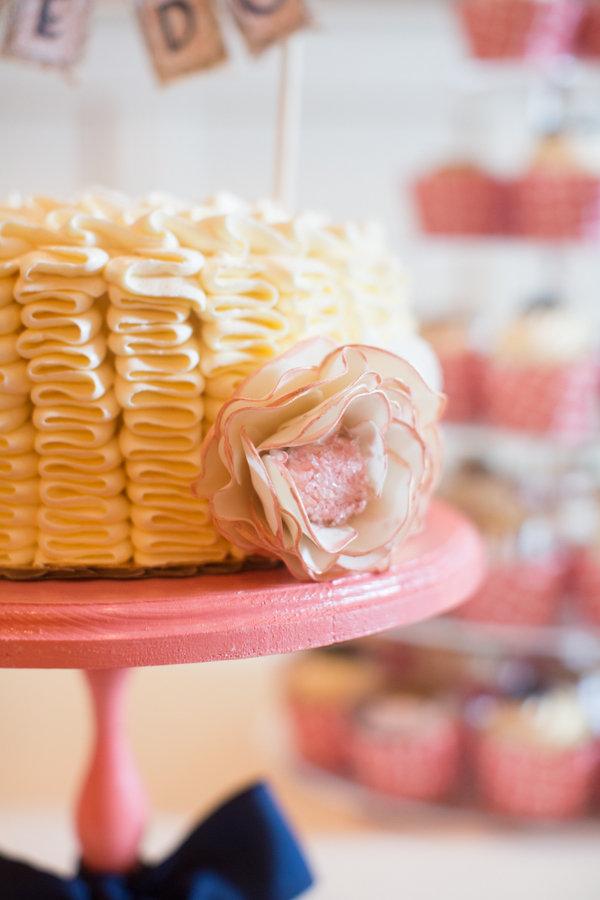 Cakes, Real Weddings, Wedding Style, pink, Vintage Wedding Cakes, Wedding Cakes, Winter Weddings, Vintage Real Weddings, Winter Real Weddings, Vintage Weddings, mid-atlantic real weddings