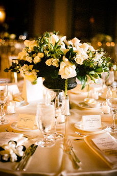 Flowers & Decor, Real Weddings, Wedding Style, white, ivory, Centerpieces, Classic Real Weddings, Classic Weddings, Classic Wedding Flowers & Decor, West Coast Weddings