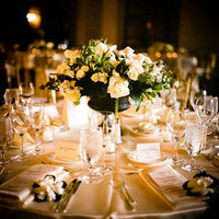 Flowers & Decor, Real Weddings, Wedding Style, white, Centerpieces, Tables & Seating, Place Settings, Classic Real Weddings, Classic Weddings, Classic Wedding Flowers & Decor, Table settings, West Coast Weddings