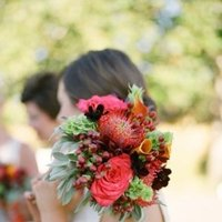 Flowers & Decor, Real Weddings, Wedding Style, red, Bride Bouquets, Rustic Real Weddings, Spring Weddings, West Coast Real Weddings, Classic Real Weddings, Spring Real Weddings, Vintage Real Weddings, Classic Weddings, Rustic Weddings, Vintage Weddings, Classic Wedding Flowers & Decor, Vintage Wedding Flowers & Decor