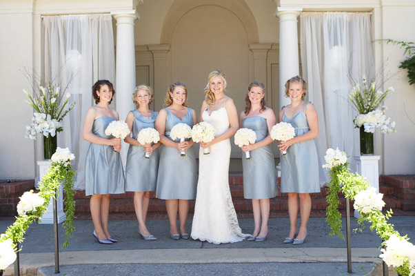 Bridesmaids Dresses, Fashion, Real Weddings, Wedding Style, white, blue, Summer Weddings, West Coast Real Weddings, Classic Real Weddings, Summer Real Weddings, Classic Weddings