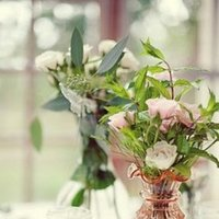 Flowers & Decor, Real Weddings, Wedding Style, Centerpieces, Candles, Southern Real Weddings, Garden Real Weddings, Garden Weddings, Garden Wedding Flowers & Decor
