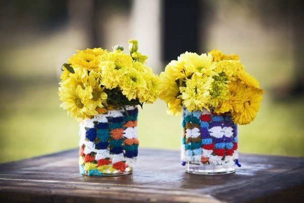 Flowers & Decor, Real Weddings, Wedding Style, yellow, Centerpieces, Summer Weddings, West Coast Real Weddings, Boho Chic Real Weddings, Summer Real Weddings, Boho Chic Weddings, Summer Wedding Flowers & Decor, Boho Chic Wedding Flowers & Decor