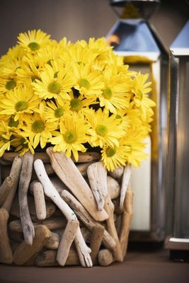 Flowers & Decor, Real Weddings, Wedding Style, yellow, Centerpieces, Summer Weddings, West Coast Real Weddings, Boho Chic Real Weddings, Summer Real Weddings, Boho Chic Weddings, Summer Wedding Flowers & Decor, Lanterns, Boho Chic Wedding Flowers & Decor