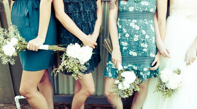 Bridesmaids Dresses, Fashion, Real Weddings, Wedding Style, blue, Rustic Real Weddings, West Coast Real Weddings, Rustic Weddings