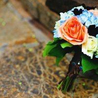 Flowers & Decor, Real Weddings, Wedding Style, blue, Bride Bouquets, Midwest Real Weddings, Vintage Real Weddings, Vintage Weddings, Military weddings