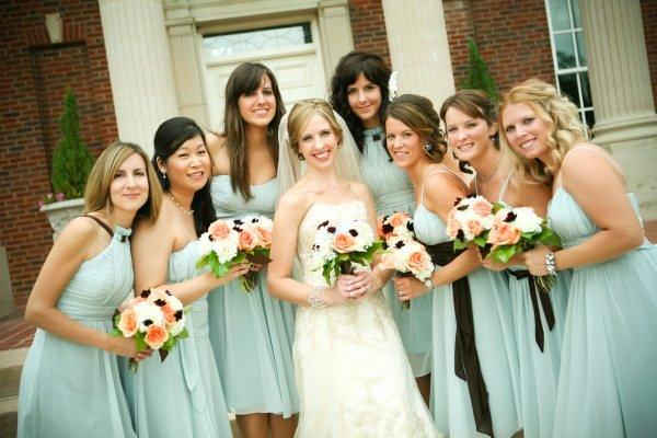 Bridesmaids Dresses, Fashion, Real Weddings, Wedding Style, blue, Midwest Real Weddings, Vintage Real Weddings, Vintage Weddings, Military weddings