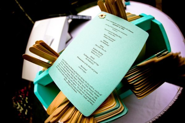 Stationery, Real Weddings, Wedding Style, blue, green, Ceremony Programs, Midwest Real Weddings, Vintage Real Weddings, Vintage Weddings, Military weddings