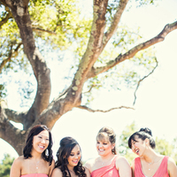 Bridesmaid Dresses, Fashion, Real Weddings, Wedding Style, pink, Summer Weddings, West Coast Real Weddings, Garden Real Weddings, Summer Real Weddings, Garden Weddings, Coral