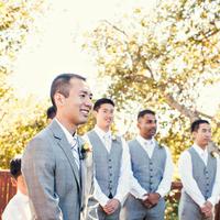 Fashion, Real Weddings, Wedding Style, gray, Men's Formal Wear, Summer Weddings, West Coast Real Weddings, Garden Real Weddings, Summer Real Weddings, Garden Weddings