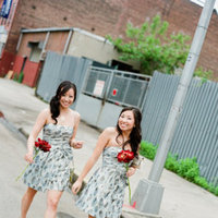 Bridesmaids Dresses, Fashion, Real Weddings, Wedding Style, gray, Fall Weddings, Northeast Real Weddings, Modern Real Weddings, City Real Weddings, Fall Real Weddings, City Weddings, Modern Weddings