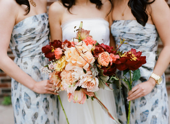 Flowers & Decor, Real Weddings, Wedding Style, Bride Bouquets, Bridesmaid Bouquets, Fall Weddings, Northeast Real Weddings, Modern Real Weddings, City Real Weddings, Fall Real Weddings, City Weddings, Modern Weddings, Fall Wedding Flowers & Decor