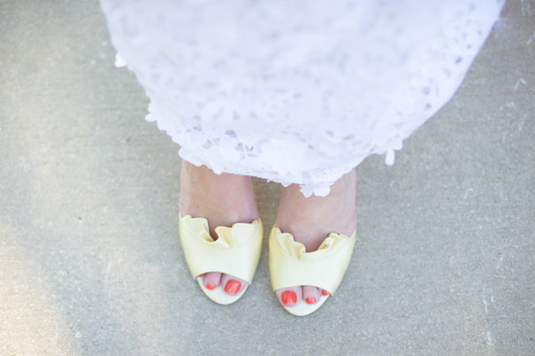Real Weddings, Wedding Style, yellow, Southern Real Weddings, Summer Weddings, Summer Real Weddings, Bridal shoes, wedding shoes, Southern weddings