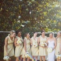 Bridesmaids Dresses, Real Weddings, Wedding Style, yellow, Southern Real Weddings, Summer Weddings, Summer Real Weddings, Bridal party, Southern weddings