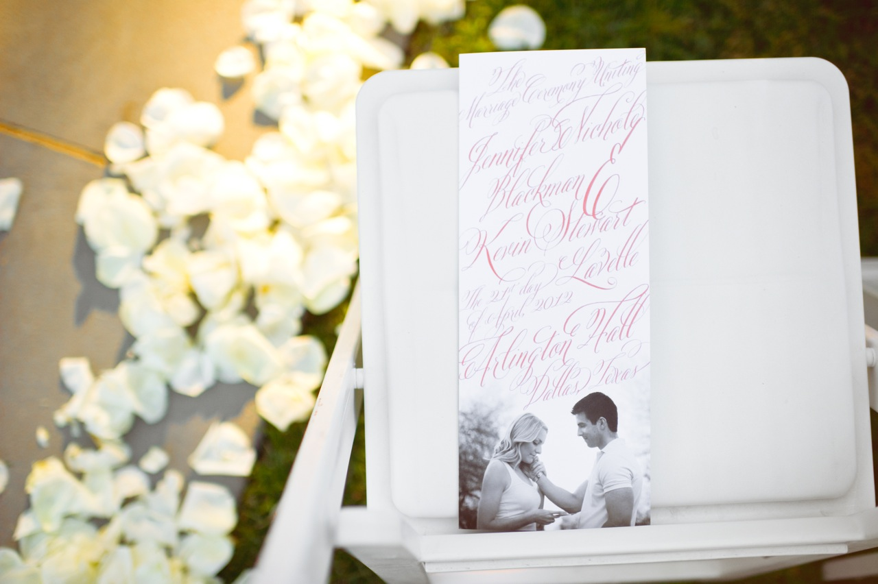 Stationery, Real Weddings, Wedding Style, yellow, Ceremony Programs, Southern Real Weddings, Summer Weddings, Summer Real Weddings, Southern weddings
