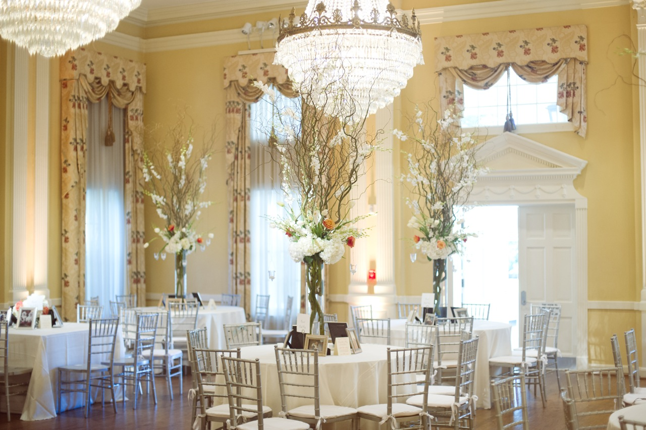 Reception, Flowers & Decor, Real Weddings, Wedding Style, yellow, Centerpieces, Southern Real Weddings, Summer Weddings, Summer Real Weddings, Summer Wedding Flowers & Decor, Chandeliers, Southern weddings