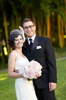 Beauty, Veils, Fashion, Real Weddings, Wedding Style, Short Hair, Feathers, Spring Weddings, West Coast Real Weddings, Shabby Chic Real Weddings, Spring Real Weddings, Shabby Chic Weddings, Feather Wedding Dresses