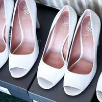 Bridesmaids, Shoes, Real Weddings, white, pink