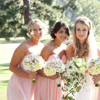 Bridesmaids, Real Weddings, pink, Romantic, Bridal party, Pastel