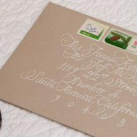 Calligraphy, Stationery, Real Weddings, Invitations