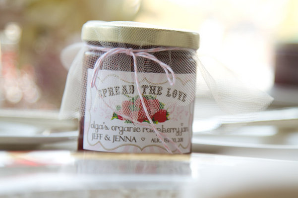 Favors & Gifts, Real Weddings, Favors, strawberry jam
