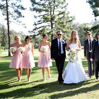 Real Weddings, pink, Wedding party