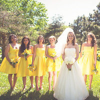 Bridesmaids Dresses, Bridesmaid Dresses, Fashion, Real Weddings, Wedding Style, yellow, Summer Weddings, Midwest Real Weddings, Summer Real Weddings, minnesota weddings, minnestoa real weddings