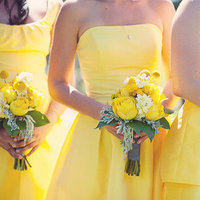 Flowers & Decor, Bridesmaids Dresses, Fashion, Real Weddings, yellow, Bridesmaid Bouquets, Summer Weddings, Midwest Real Weddings, Summer Real Weddings, minnesota weddings, minnesota real weddings