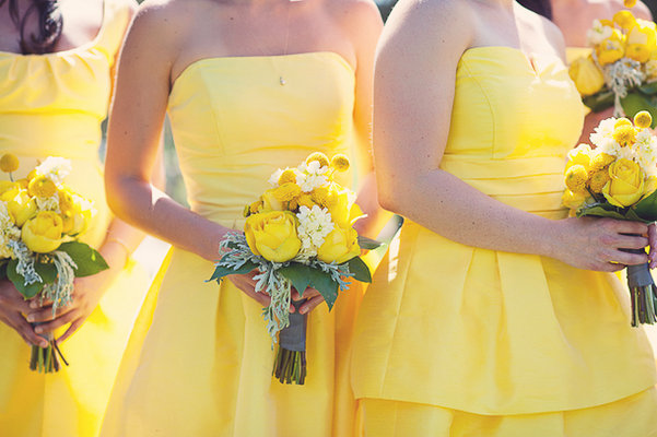 Flowers & Decor, Bridesmaids Dresses, Fashion, Real Weddings, yellow, Bridesmaid Bouquets, Summer Weddings, Midwest Real Weddings, Summer Real Weddings