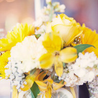 Real Weddings, yellow, Centerpieces, Summer Weddings, Midwest Real Weddings, Summer Real Weddings, Summer Wedding Flowers & Decor