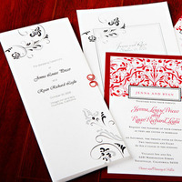 Stationery, Real Weddings, Wedding Style, red, Glam Wedding Invitations, Invitations, West Coast Real Weddings, Glam Real Weddings, Glam Weddings