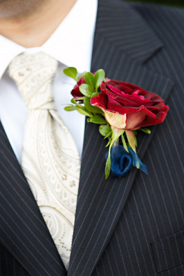 Flowers & Decor, Real Weddings, Wedding Style, red, Boutonnieres, West Coast Real Weddings, Glam Real Weddings, Glam Weddings