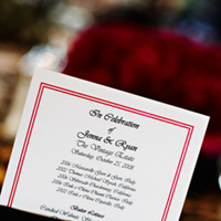 Stationery, Real Weddings, Wedding Style, Menu Cards, West Coast Real Weddings, Glam Real Weddings, Glam Weddings
